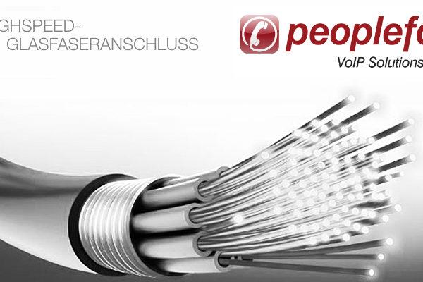 Peoplefone Glasfaseranschluss